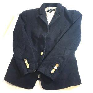 Any Taylor Navy Single Button Blazer 0P 04…